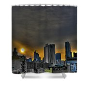 Sunset In Manhattan's Lower East Side Shower Curtain