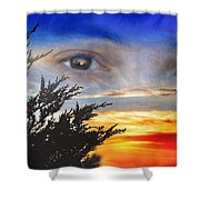 Sunset In My Eyes Shower Curtain