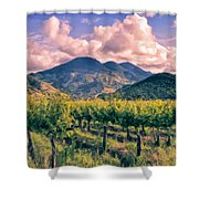Sunset In Napa Valley Shower Curtain