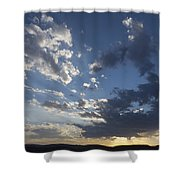 Sunset In New Mexico Shower Curtain