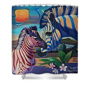 Sunset In Ngoro Ngoro Shower Curtain