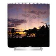 Sunset In Punta Banco Shower Curtain