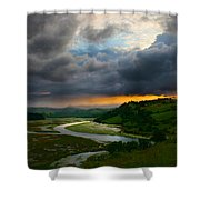 Sunset In Spain 2 Shower Curtain