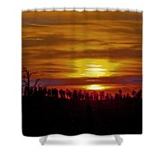 Sunset In The Black Hills 2 Shower Curtain