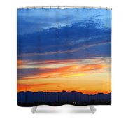 Sunset In The Black Mountains Shower Curtain