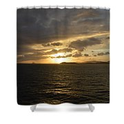 Sunset In The Caribbean Shower Curtain