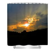 Sunset In The Cornfield 2 Shower Curtain