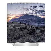 Sunset In The Davis Mountains Shower Curtain