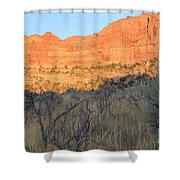 Sunset In The Desert Canyon 2 Shower Curtain