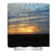 Sunset In The Distance Shower Curtain