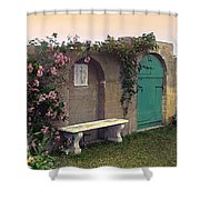 Sunset In The Garden Shower Curtain by Terry Reynoldson