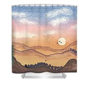 Sunset In The Hills Shower Curtain