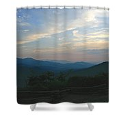 Sunset In The Mountans Shower Curtain
