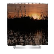 Sunset In The Pantenal Shower Curtain