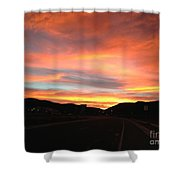 Sunset In The Southwest Shower Curtain