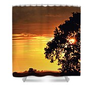 Sunset In The Valley Shower Curtain