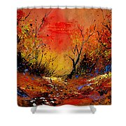 Sunset In The Wood Shower Curtain