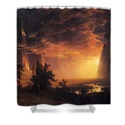 Sunset In The Yosemite Valley Shower Curtain