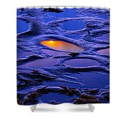 Sunset In Tide Pools Shower Curtain