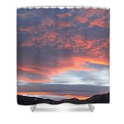Sunset In Vail Colorado Shower Curtain