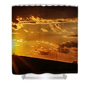 Sunset In Vernon County Shower Curtain