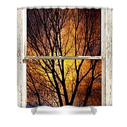 Sunset Into The Night Window View 3 Shower Curtain