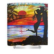 Sunset Kiss Shower Curtain