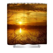 Sunset Lake Galena Shower Curtain