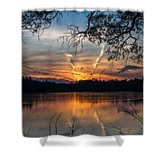 Sunset Lake Horicon Lakehurst New Jersey Shower Curtain