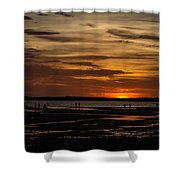 Sunset Layers Shower Curtain