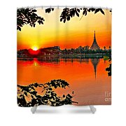 Sunset Leaves Shower Curtain