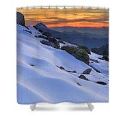Sunset Light On The Snow Shower Curtain