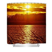 Sunset Love At Crosswinds Shower Curtain
