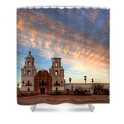 Sunset Majesty Mission San Xavier Del Bac Shower Curtain