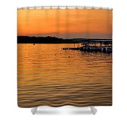 Sunset Marina Shower Curtain
