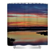 Sunset Marsh Shower Curtain