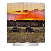 Sunset Meadow Shower Curtain