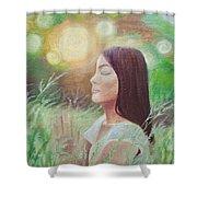 Sunset Meditation Shower Curtain