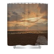Walkway To The Sunset Shower Curtain