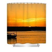 Sunset Morro Bay California Shower Curtain