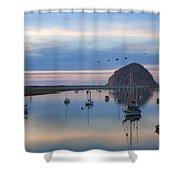 Sunset Morro Bay Shower Curtain