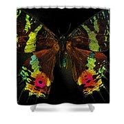 Sunset Moth Shower Curtain