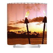 Sunset Napili Maui Hawaii Shower Curtain