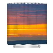 Sunset Near Honolulu Harbor Shower Curtain