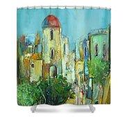 Sunset Neighborhood Shower Curtain
