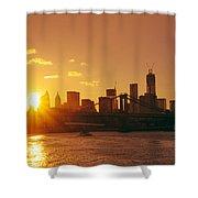 Sunset - New York City Shower Curtain