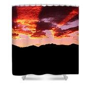 Bitterroot Sunset Shower Curtain