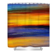 Sunset Of Light Shower Curtain