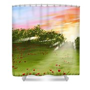 Sunset Of Spring Shower Curtain