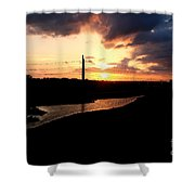 Sunset Of The Trinity River Shower Curtain